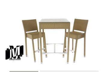 mesas altas para exterior para restaurantes o bar diamante evangelina