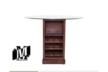 mesa alta para restaurante o bar con cubierta de cristal kontempo