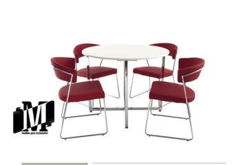 mesa para restaurante o bar redonda diamante paula