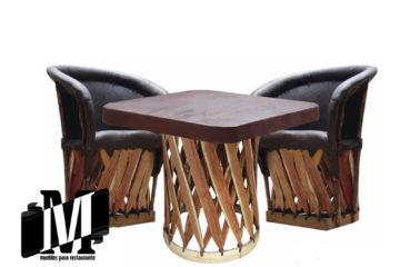 mesas para restaurantes y bar set equipales