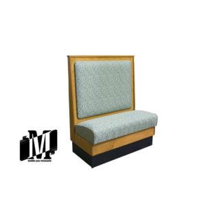 mueble restaurante booth madera respaldo alto