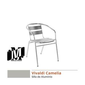 sillas de aluminio para restaurantes vivaldi camelia