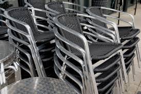 Muebles para restaurante de metal